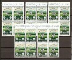1985 San Marino Saint Marin GIOCHI PICCOLI STATI 4 Serie Di 5v. In Quartina MNH** Bl.4 - Francobolli