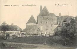 - Nievre -ref-A 293- Verneuil -  Vieux Chateau Feodal - Chateaux - Carte Bon Etat - - Autres Communes
