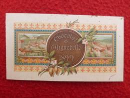 CALENDRIER 1899 CHOCOLAT AIGUEBELLE 11.5 X 6.5 - Formato Piccolo : ...-1900