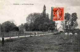 CPA - PERSAN (95) - Aspect Du Château-Rouge En 1909 - Persan