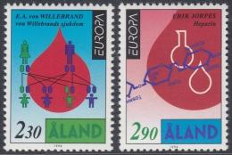 Aland Islands 1994 Europa/CEPT: Great Discoveries. Medicine. Mi 86-87 MNH - Aland
