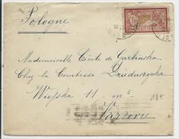 1925 - DESTINATION - 1F MERSON SEUL Sur ENVELOPPE De ST MAURICE Pour VARSOVIE (POLOGNE) - 1921-1960: Modern Tijdperk