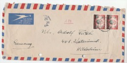 1957 Air Mail SOUTH AFRICA Multi Stamps COVER To Germany - South Africa (...-1961)