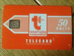 Nr. 01A Malta With Rare Chip SC6 Red 50 Units - Fine Used Condition - RR - Cheap Price - Malta