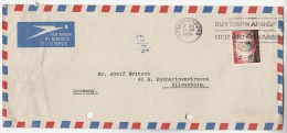6air Mail SOUTH AFRICA Stamps COVER SLOGAN Pmk Buy South African , To Germany - South Africa (...-1961)