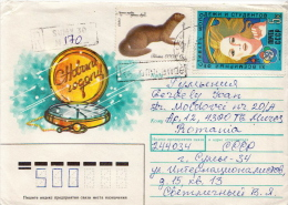 Postal History Cover: Soviet Union With Animal Stamp On Cover - Sellos