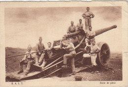 Militaria - Guerre 39-45 - Artillerie Française - Canon  - Franchise Militaire - Dijon - Bitche Hélias - Guerre 1939-45