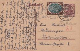 Carte Entier CaD GEFSTEMUNDE 1920 - Briefe U. Dokumente