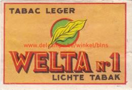Welta N°1 Lichte Tabak - Boites D'allumettes - Etiquettes
