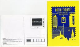 2015 Exposition Archi-timbrée Voyage Philatélique Dans L'Architecture - Postal Stamped Stationery