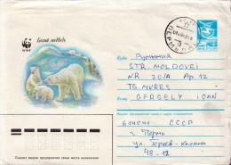 Postal History Cover: Soviet Union Used Postal Stationery With Polar Bear, WWF Topic - W.W.F.