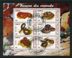 BURUNDI ( MINI-FEUILLET 2011 ) : FAUNE  DU  MONDE , FEUILLET  DE  SIX  TIMBRES  OBLITERES , A VOIR .