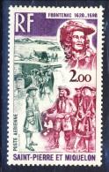 S. Pierre Et Miquelon Posta Aerea 1973 N. 55 Personaggi Celebri, Frontenac MNH Catalogo € 14 - Posta Aerea