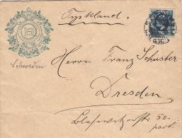Lettre Avec Illustration Grand Hotel Stockholm Pour Dresden - Schweden