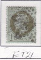 Etoile 21 Sur 25 - 1863-1870 Napoleone III Con Gli Allori
