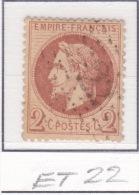 Etoile 22 Sur 26 - 1863-1870 Napoleone III Con Gli Allori