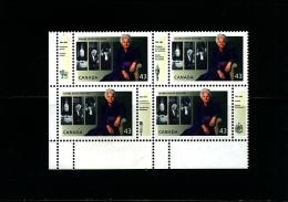 CANADA - 1993  JEANNE SAUVE'  BLOCK  WITH DIFFERENT  TABS  MINT NH - 1952-.... Regno Di Elizabeth II