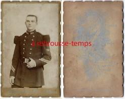 CDV-soldat 161e Régiment-2 Galons-photo Mathieu Face à L'hotel Du Cygne à St Mihiel - Guerre, Militaire