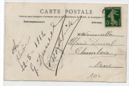 "1912 - CP Avec TP SEMEUSE OBLITERE ""OR""  - OBLITERATION DE FORTUNE - Postmark Collection (Covers)"