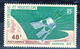 S. Pierre Et Miquelon Posta Aerea 1966 N. 35 Fr 48 Satellite D1 MNH Catalogo € 11,20 - Posta Aerea