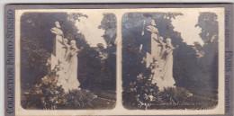 11Z -photo Stereoscopique Stereo Photographie -PARIS Monument Gounod - Photos Stéréoscopiques