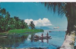 Carte 1960 TAHITI  / USAGE DES PIROGUES - Tahiti
