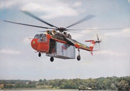 Carte 1969 LE PLUS GROS HELICOPTERE AMERICAIN /  LE SIKORSKY S-64 - Helicópteros