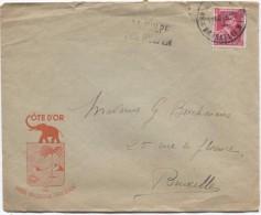 TP 528 Léopold III Pt Format S/L.commerciale Côte D'OR Chocolat C.BXL (Q.L.)1943+ Gff Bilingue La Hulpe V.BXL PR2987 - Postmark Collection