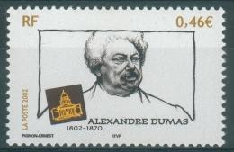 France, Alexandre Dumas, French Writer, 2002, MNH VF - Frankrijk
