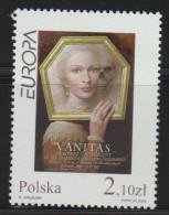 """G 624) Polen 2003 Mi# 4050 ** : Plakat Für Die Ausstellung """"Vanitas"""" In Kattowitz (1997) Von Wiesaw Wakuski (*1956) - Künste"""