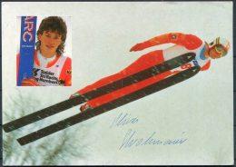 Oliver Strohmaier Austria Atomic Ski Jump Alpine Winter Sports Postcard - SIGNED - Winter Sports