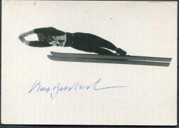 Max Bolkart Germany Ski Jump Alpine Winter Sports Postcard - SIGNED - Winter Sports