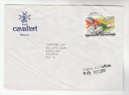 1992 MALTA Stamps COVER Illus ADVERT HOTEL CAVALIERI - Malta