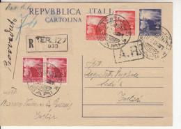 Intero Postale Raccomandato A.r. - Interi Postali