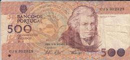 0163 Billete Portugal 500 Escudos Circulado - Portugal