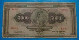 GREECE 5000 DRACHMAI 1932 VG-F - Grecia