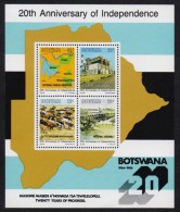 BOTSWANA 1986 MNH - Independence, Cattel Farm Animals, Miniature Sheet, MNH - Botswana (1966-...)