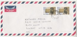 1998 Air Mail Kafue ZAMBIA COVER  Stamps  2x K450 VORBRECK Monument To  GB - Zambie (1965-...)