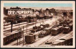 1374 - Sans Frais De Port - Carte Postale Ancienne - Reims La Gare Station Chemin De Fer TOP - Reims
