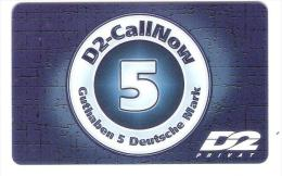 GERMANY  - D2 Privat - Call Now - 5 DM Card - 11/99 - Germany