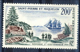 S. Pierre Et Miquelon Posta Aerea 1963 N. 29 Fr 200 Bicentenario MLH Catalogo € 31,80 - Posta Aerea