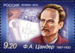 Russia 2012 Pioneer Of Rocketry And Spaceflight Friedrich Zander 1v MNH - Russia & USSR