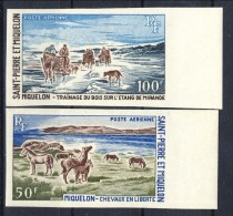 S. Pierre Et Miquelon Posta Aerea 1969 Serie N. 44-45 Paesaggi MNH GO NON DENTELLATI Catalogo € 86 - Posta Aerea