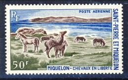 S. Pierre Et Miquelon Posta Aerea 1969 N. 44 Fr 50 Paesaggio MNH Catalogo € 17 - Posta Aerea