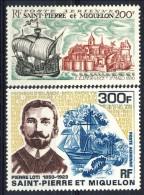 S. Pierre Et Miquelon Posta Aerea 1969 Serie N.  46-47 Battelli MNH GO Catalogo € 132 - Posta Aerea