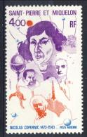 S. Pierre Et Miquelon Posta Aerea 1974 N. 59 Fr 4 Anniversario Copernico MLH Catalogo € 22 - Posta Aerea