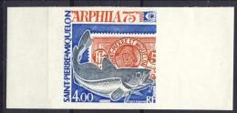 S. Pierre Et Miquelon Posta Aerea 1975 N. 60 Fr 4 Arphila 75  MNH NON DENTELLATO Catalogo € 58 - Posta Aerea