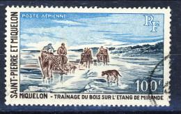 S. Pierre Et Miquelon Posta Aerea 1969 N. 45 Fr 100 Paesaggio USATO Catalogo € 17 - Posta Aerea