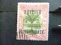 BORNEO DEL NORTE NORTH BORNEO BORNÉO DU NORD 1901 PALMIER SAGO Yvert Nº 114 - North Borneo (...-1963)