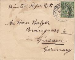 Lettre CaD WORKSOP Pour L'Allemagne >> Printed Rate - 1902-1951 (Rois)